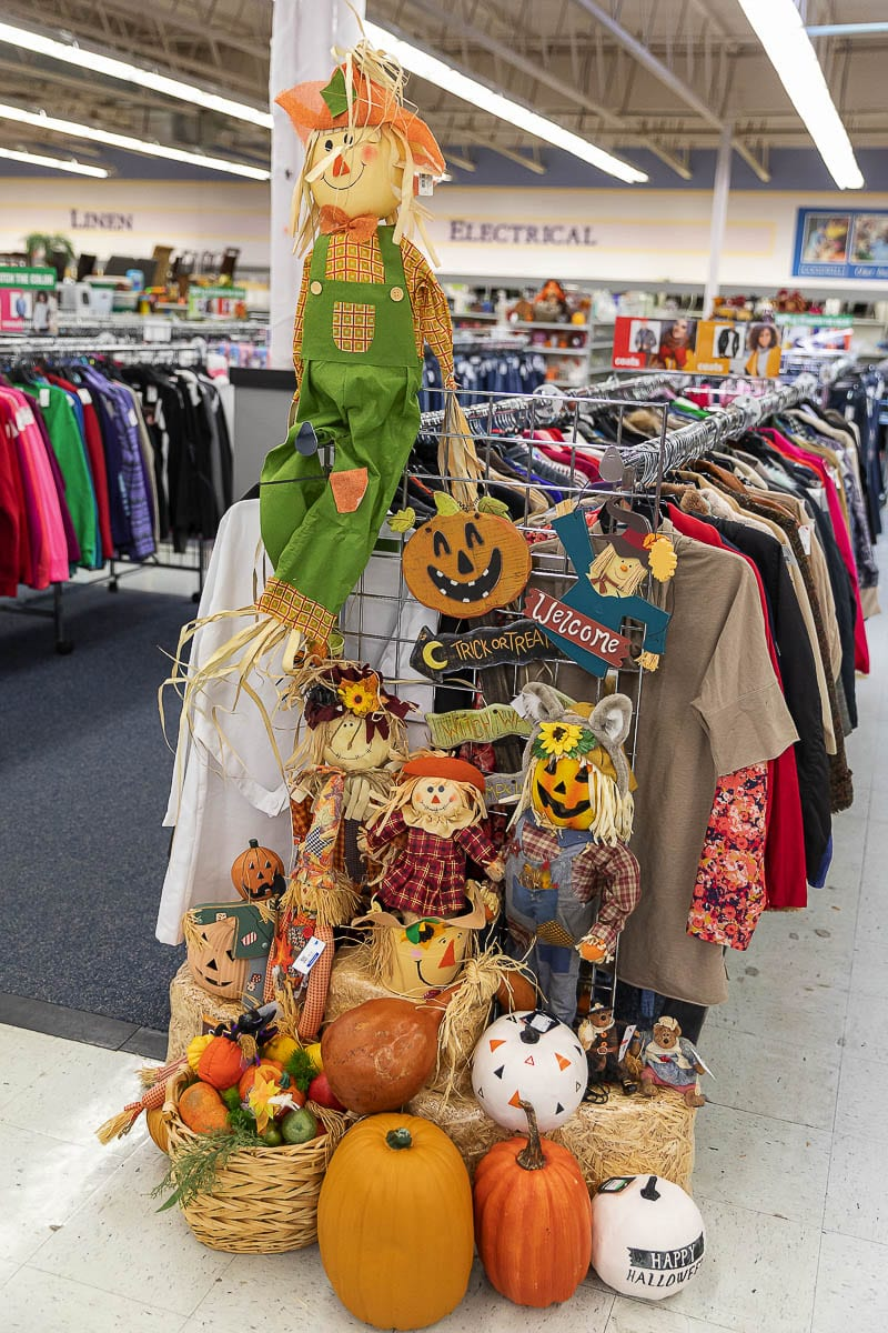 The Goodwill story on Fourth Plain Blvd and NE 65th Ave is stocked up and ready for Halloween bargain hunters. Photo by Mike Schultz