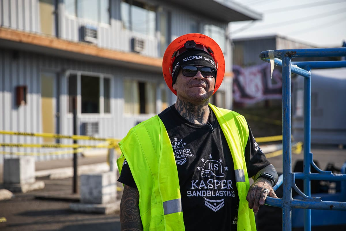 James Kasper is the owner and founder of Kasper Sandblasting, and now is working on Kasper Recovery Housing. Photo by Jacob Granneman