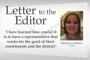 Letter: 'I have learned how crucial it is to have a representative that works for the good of their constituents and the district'