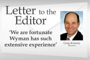 Letter: 'We are fortunate Wyman has such extensive experience'