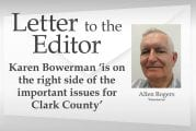 Letter: Karen Bowerman 'is on the right side of the important issues for Clark County'