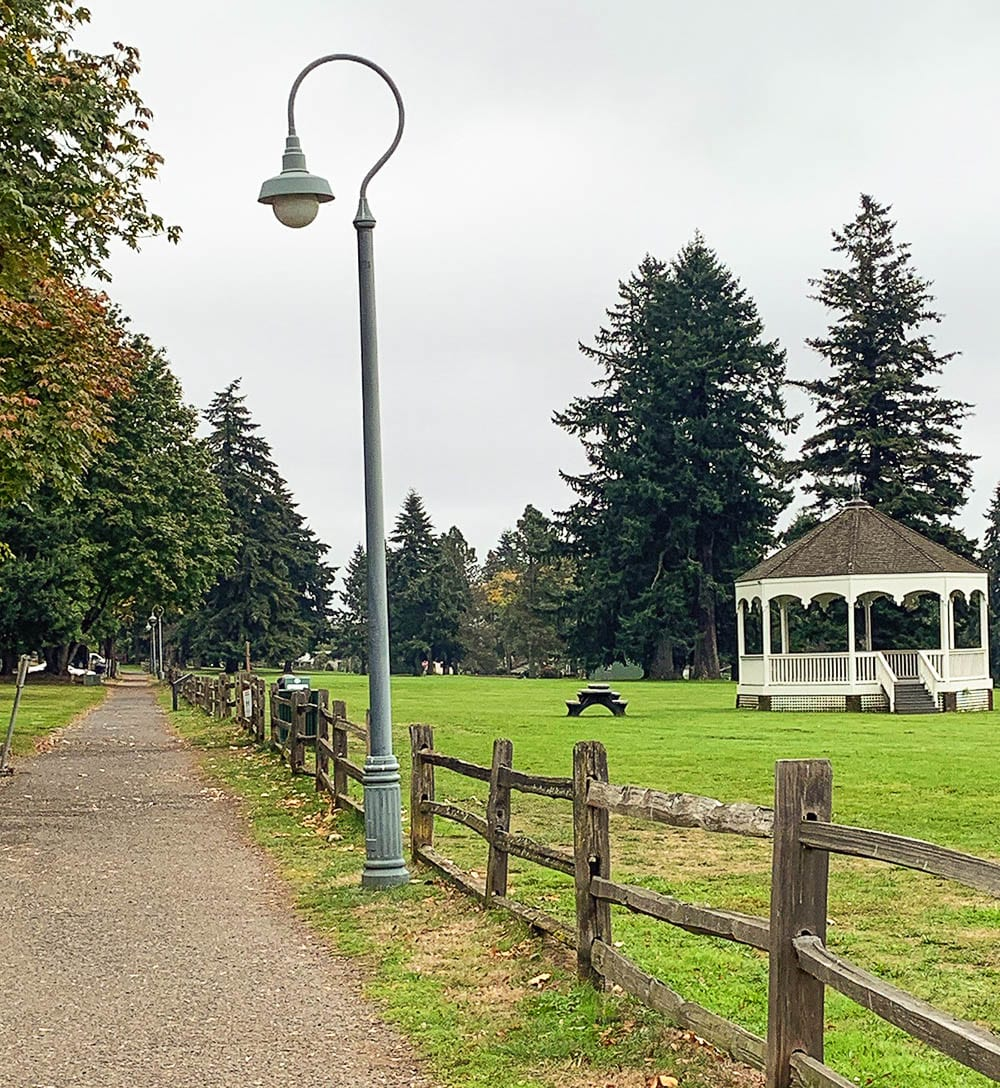 This walkway/trail along Officers Row in Vancouver is scheduled to be repaved. Photo courtesy of city of Vancouver