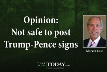 Opinion: Not safe to post Trump-Pence signs
