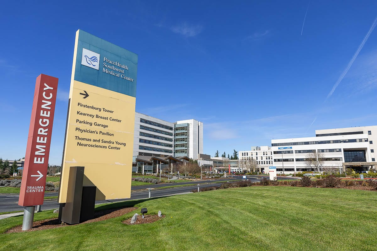 PeaceHealth Southwest Medical Center in Vancouver. File photo