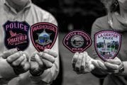 Clark County police officers participate in Pink Patch Project
