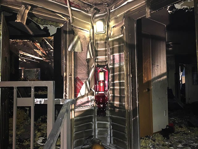 Four units of the Redwood Acres apartments were impacted by a fire early Sunday (Oct. 11) morning in Vancouver. Photo courtesy of Vancouver Fire Department