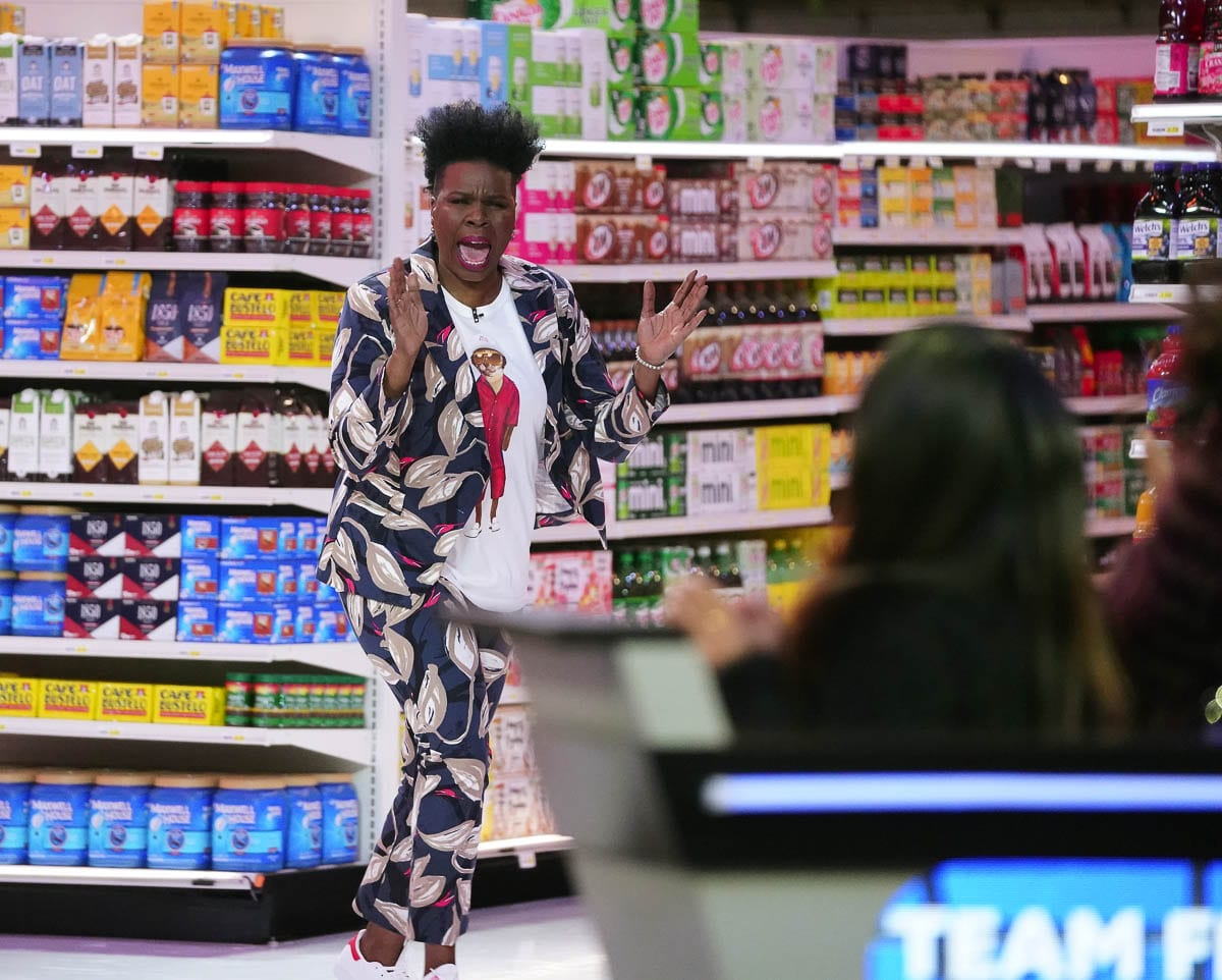 Julia Warren said Leslie Jones was a great host for Supermarket Sweep. Warren and the other contestants were a bit nervous but Jones' sense of humor made for a great experience, Warren said. Photo courtesy ABC