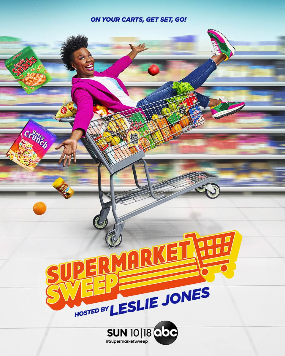 Comic actor and writer, and former Saturday Night Live star, Leslie Jones is the host of ABC's revival of Supermarket Sweep. Photo courtesy ABC