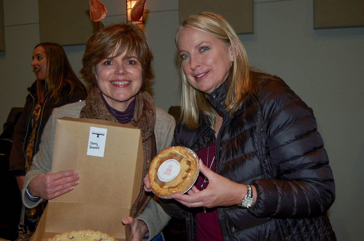 Pie winner Susan Lehr (left) is shown here with sponsor Carla Edwards during the 2019 event. Photo courtesy of Downtown Camas Association