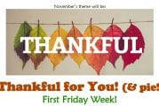 Pies and gratitude activities are the stars of First Friday Week in Downtown Camas