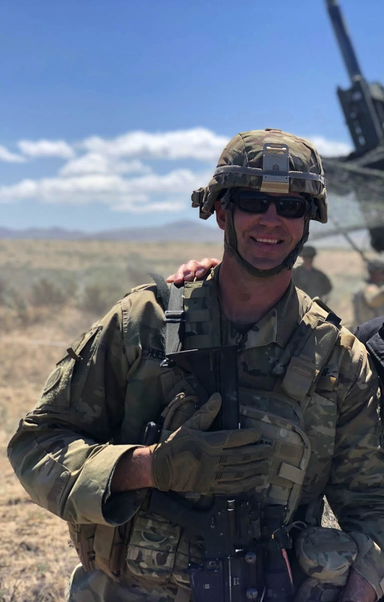 Capt. Ben Huebschman, a Class of 2003 graduate from Mountain View High School, works full time for the Army National Guard.