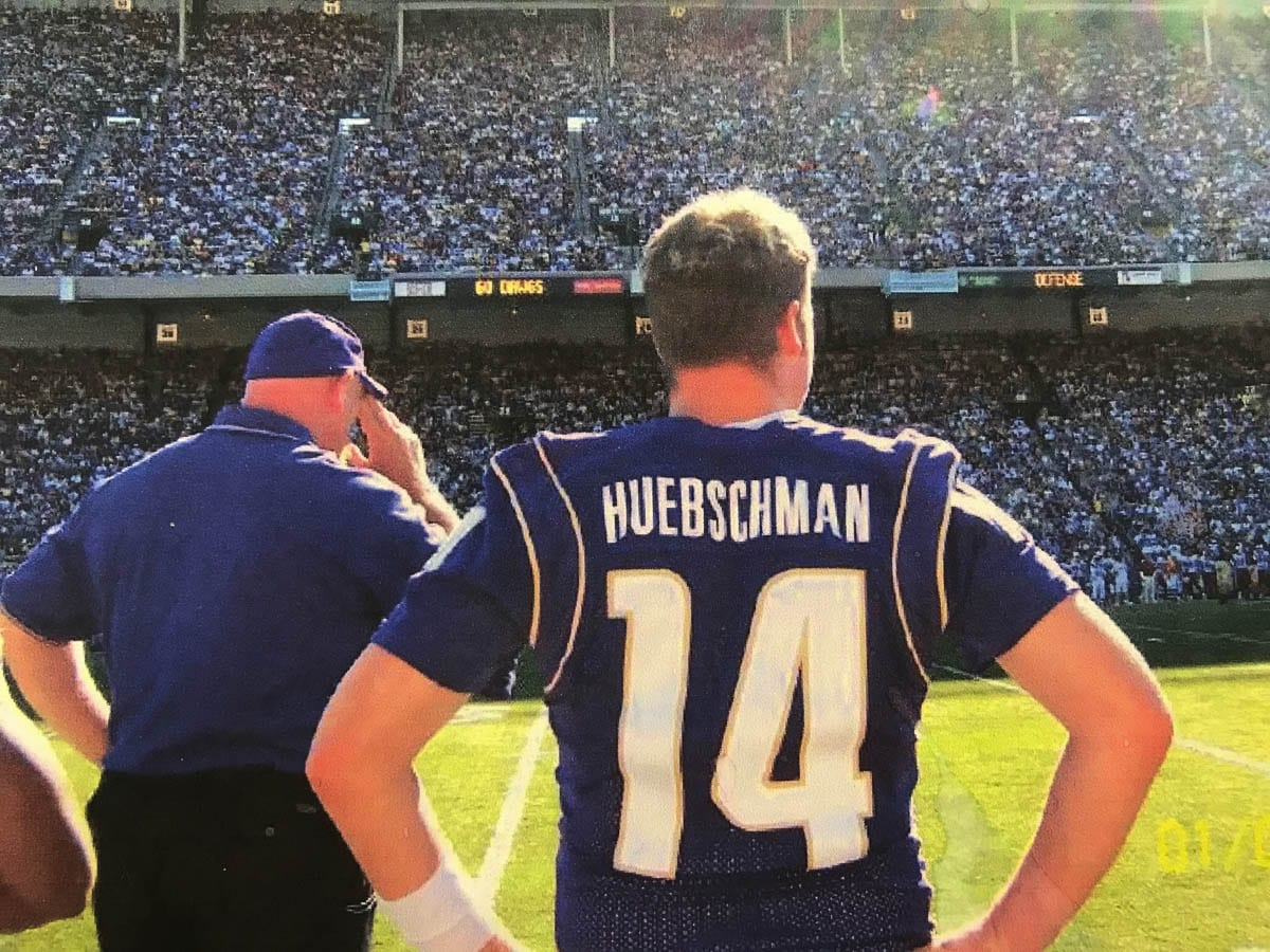 Ben Huebschman says being on the sideline for Washington Husky games, even as a walk-on, was special. Photo courtesy Ben Huebschman