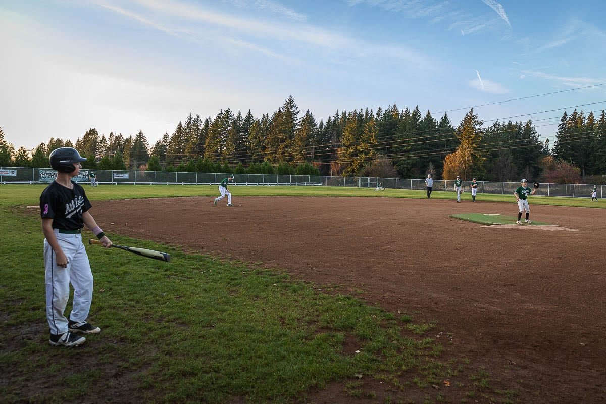 The Greenberry Athletics, a club for youth baseball and softball based in Camas, has its own field. Jason Pond built the field on his property. Photo by Mike Schultz
