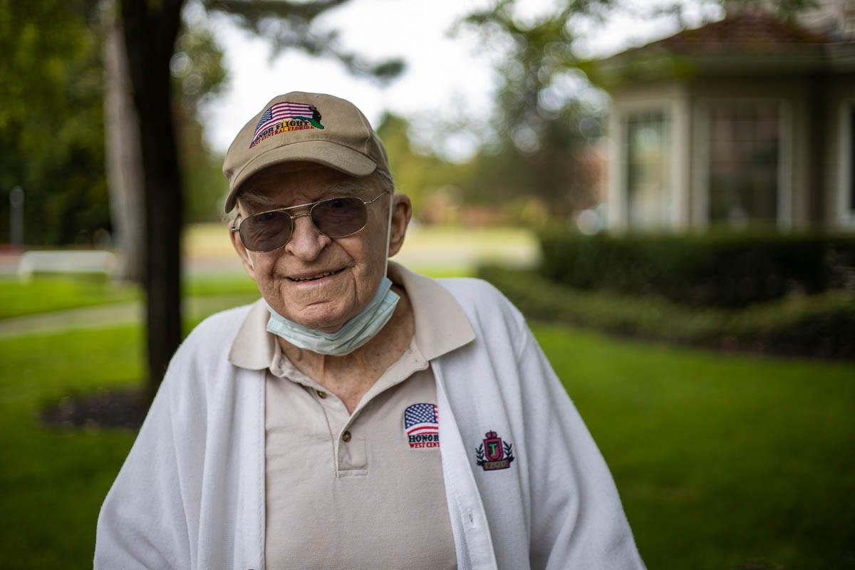 Edgar W. Haley, 98, is a World War II vet living in Vancouver. Photo by Jacob Granneman