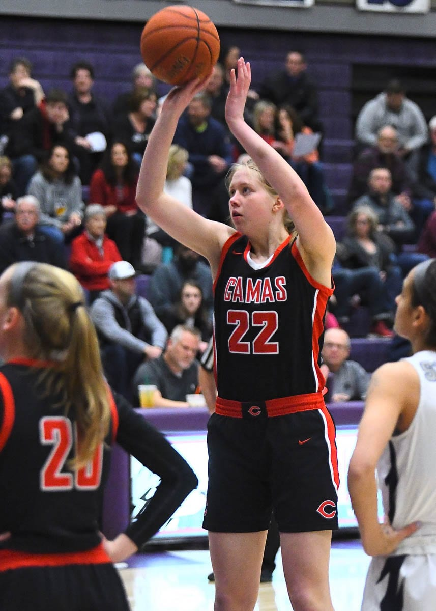 Faith Bergstrom of Camas is expected to sign with the Cal Poly Mustangs. Photo courtesy Kris Cavin