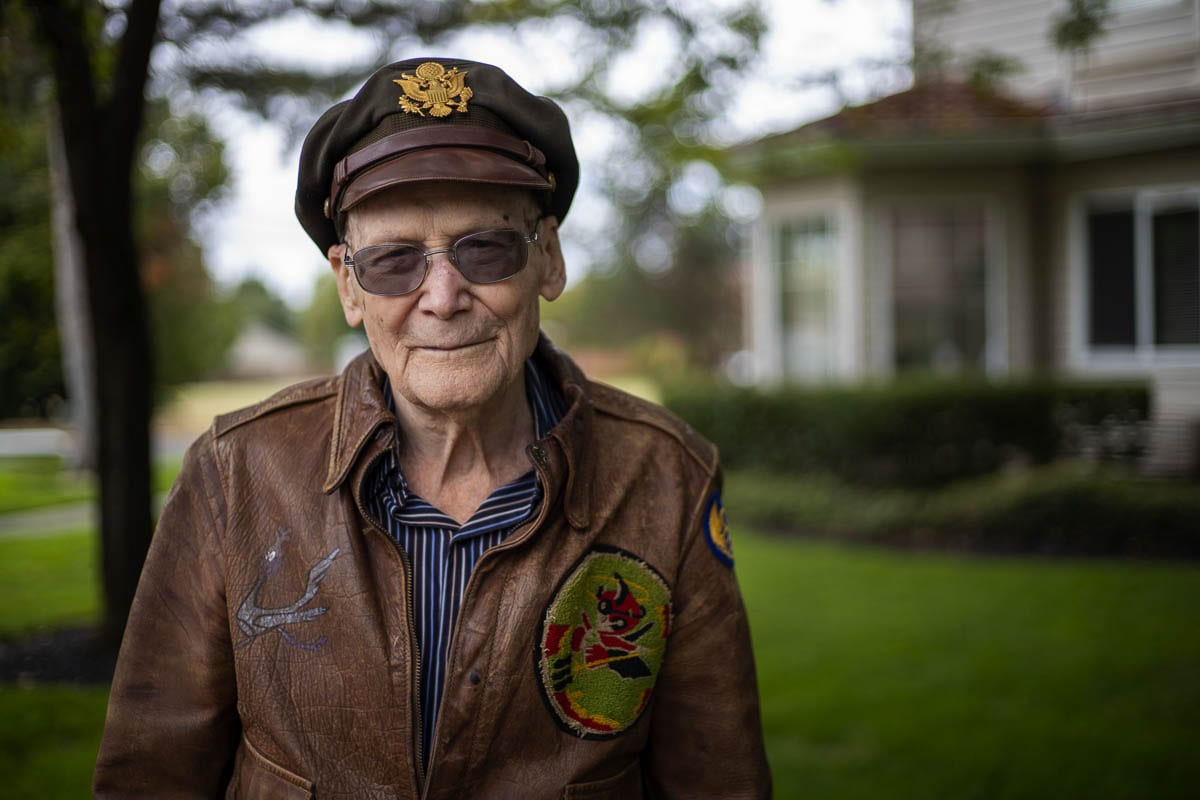 Harry Generaux, 97, flew 35 combat missions over 17 months during World War II. Photo by Jacob Granneman