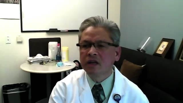 Hoa Ly, MD, medical director at Legacy Salmon Creek Medical Center, speaks during a Zoom call with the media on Monday. Photo via Zoom