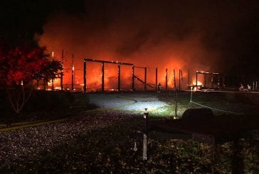 Large horse arena in Meadow Glade destroyed by fire