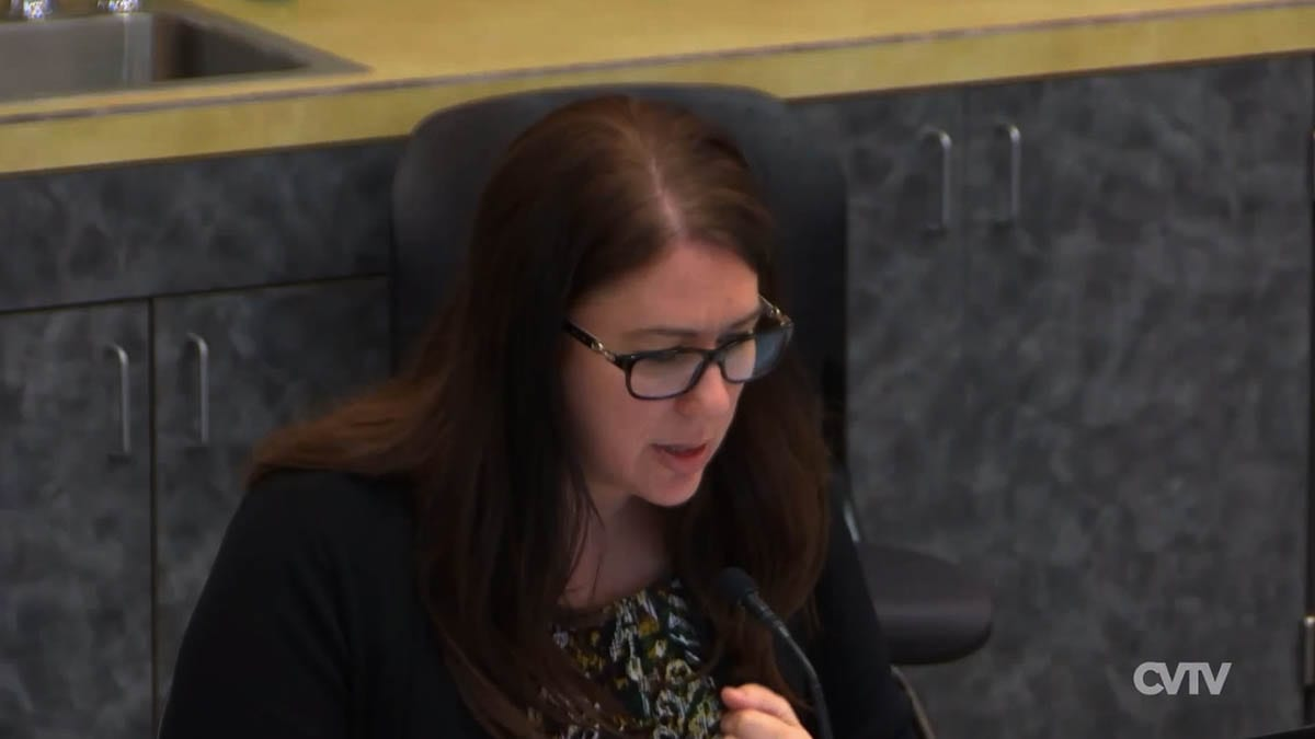 Clark County Interim Manager Kathleen Otto speaks during a County Council hearing earlier this year. Photo via Clark-Vancouver Television