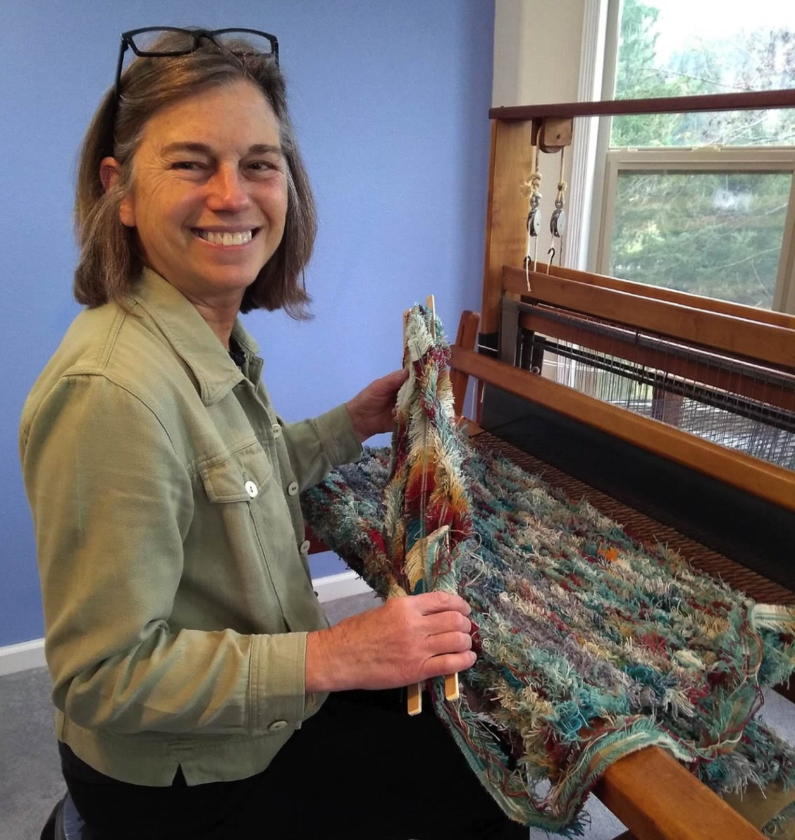 Kathy Marty of Windy Hills Weaving is excited to help get the word out about Artists Sunday. Photo courtesy Kathy Marty