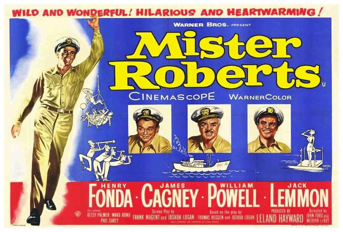 "A poster for the 1955 classic ""Mister Roberts."" The film will be shown twice in the coming days at the Liberty Theatre in Camas in celebration of Veterans Day. Photo courtesy Liberty Theatre"