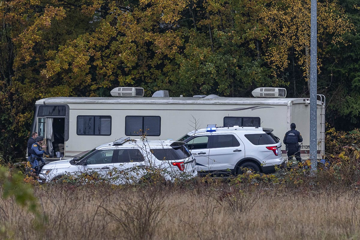 The Woodland Police Department was busy with a high volume of calls Monday, including a chase involving officers and a male subject in a motorhome. Photo by Mike Schultz