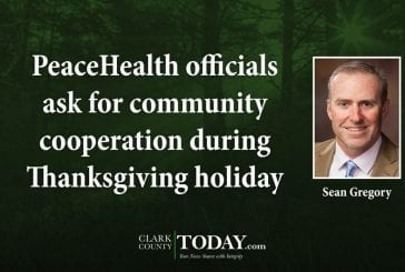 PeaceHealth officials ask for community cooperation during Thanksgiving holiday