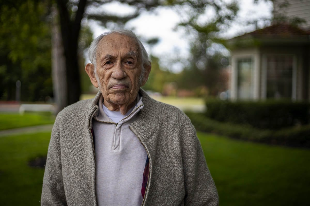 Stan Coleman, 94, was a US Navy radio operator during the latter days of World War II. Photo by Jacob Granneman
