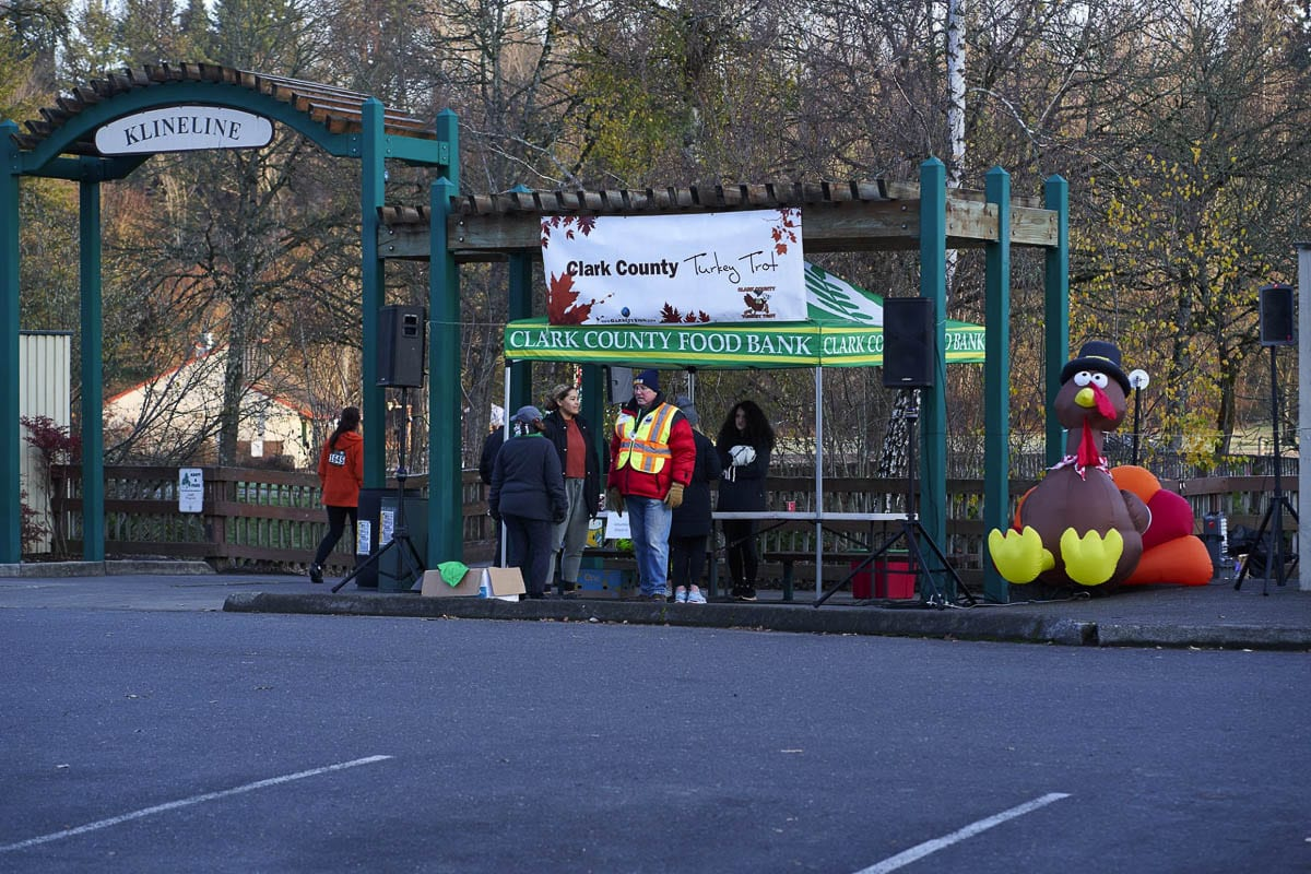 The Turkey Trot has been an annual event for nearly two decades. Last year's event was a Klineline Park. Photo courtesy of Clark County Food Bank