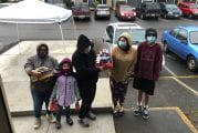 Those in need blessed at Fort Vancouver Terrace Apartments