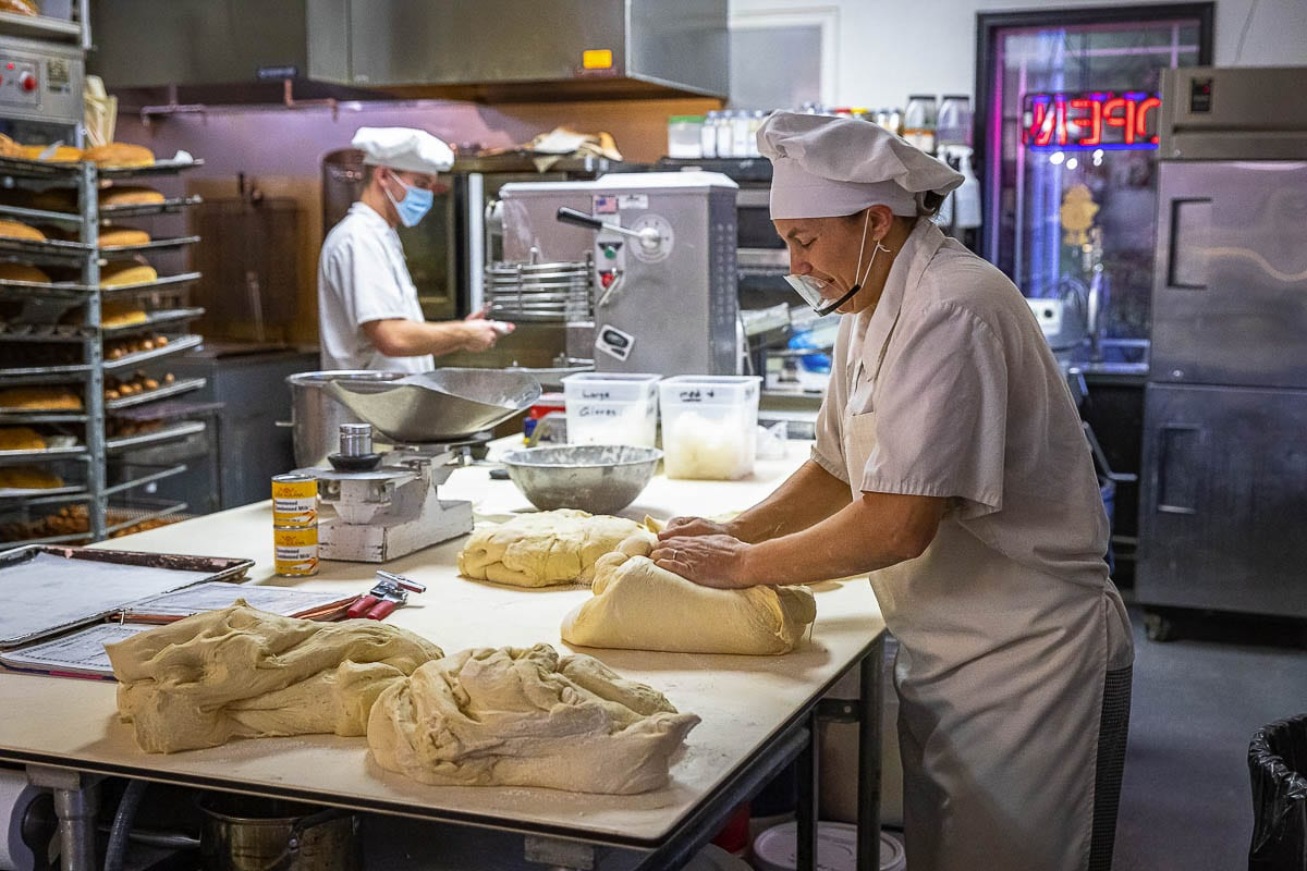 Sadie Shapovalov said her favorite thing to bake is bread. She just loves dough. Her favorite thing to eat at her bakery is … everything. Photo by Mike Schultz