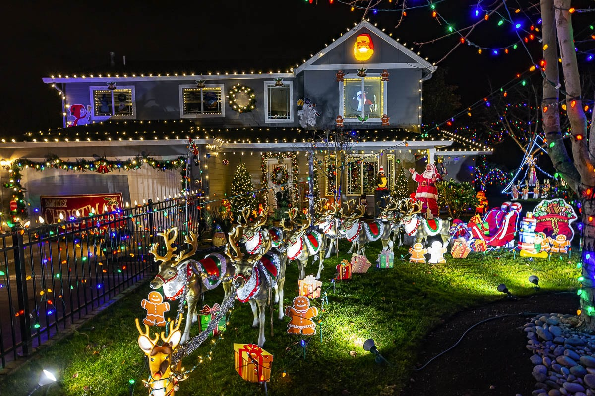 The Christmas display at Holidays on Franklin Street in Vancouver features over 60,000 lights. Photo by Mike Schultz
