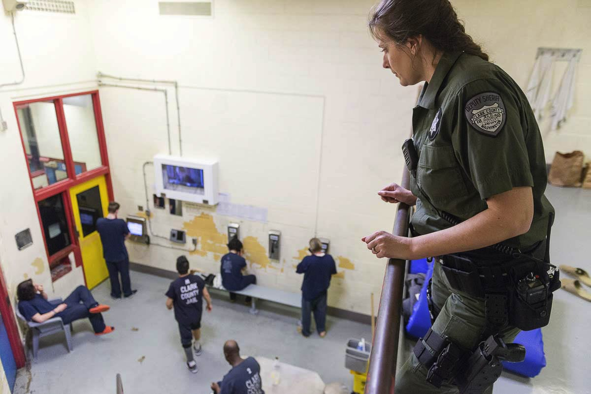 Efforts to keep Clark County Jail inmates spaced out to prevent the spread of COVID-19 have the facility struggling to find room for people. Photo courtesy Clark County Sheriff's Office