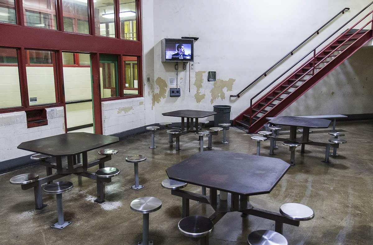 The kitchen at the Clark County Jail was closed this week after two people working there tested positive earlier this week. File photo