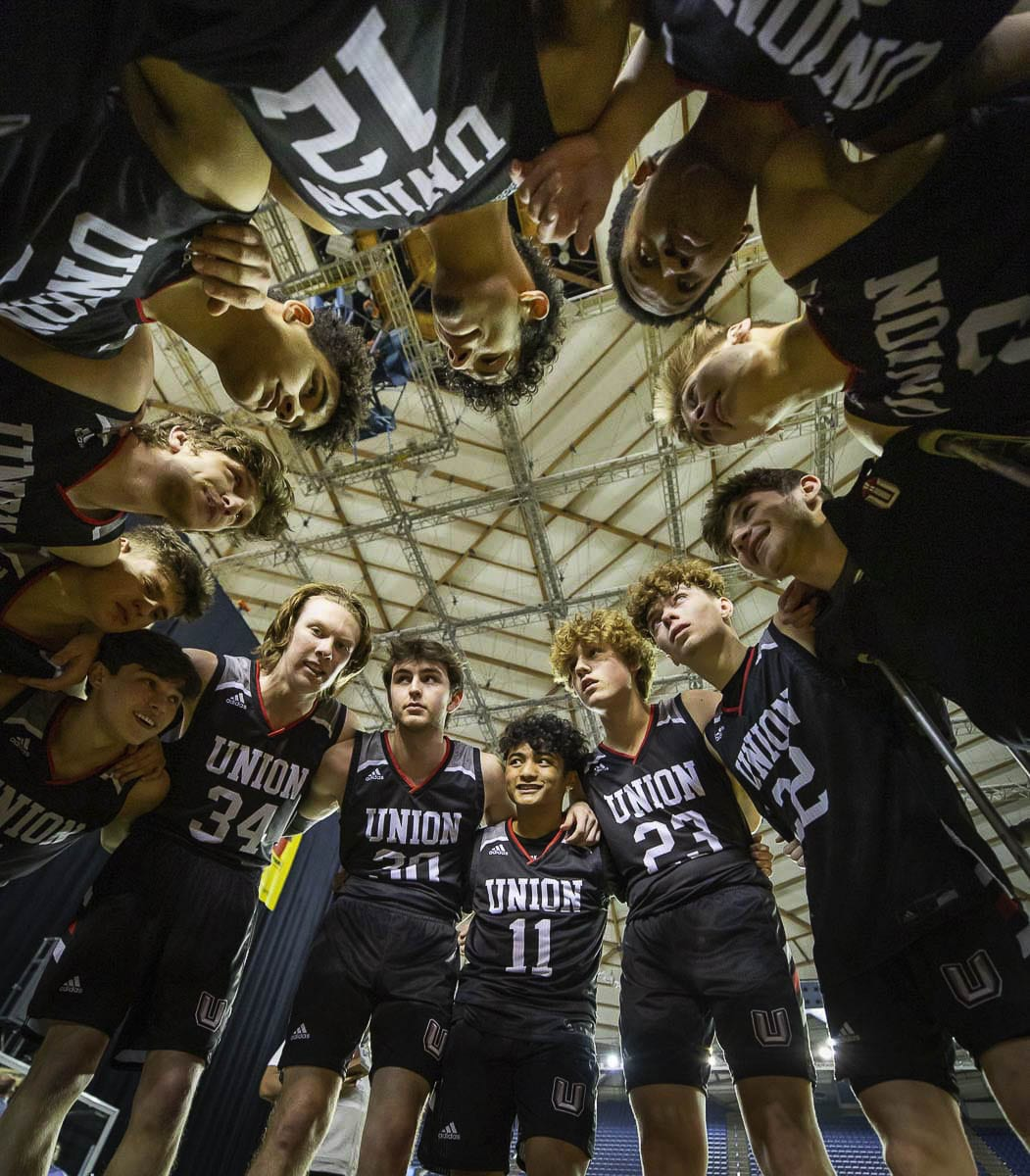 The Union boys basketball team took home the third-place trophy, playing on the final day of the last WIAA-sanctioned postseason of 2020. Photo courtesy Heather Tianen
