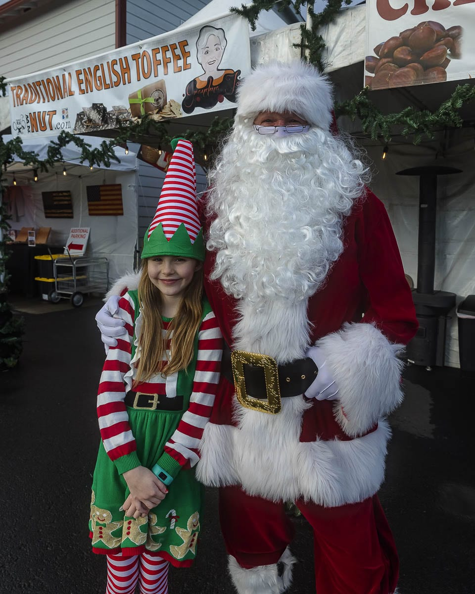 Delaney Baylous is expected to help out Santa this weekend at Santa's Village outside the NW Nut shop in Ridgefield. Photo by Mike Schultz