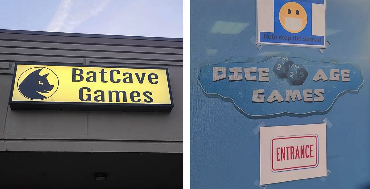 BatCave Games and Dice Age Games are there for traditional table-top games or card games. Photo by Paul Valencia