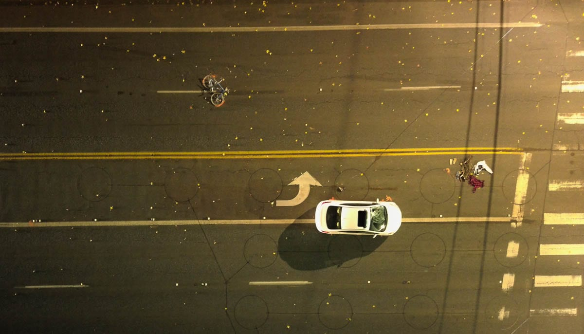 A 56-year-old man riding a bicycle was injured Tuesday night when he was struck by a vehicle in Vancouver. Photo courtesy of Clark County Sheriff's Office