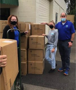 PPE delivery to the North County Community Food Bank. Photo courtesy city of Battle Ground