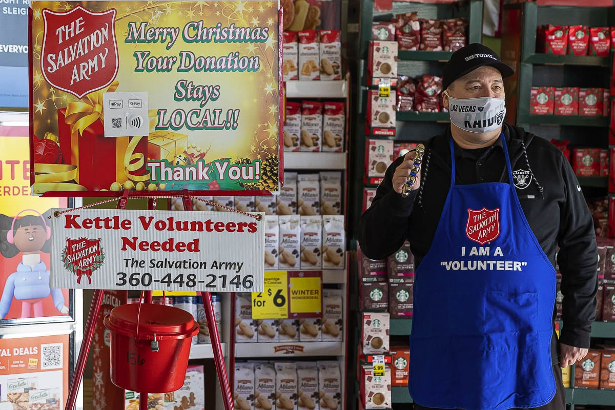The Salvation Army is looking for volunteers to ring the bell, with opportunities all over Southwest Washington up until Christman Eve. Photo by Mike Schultz