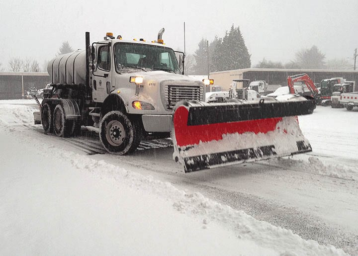 Vancouver Public Works crew and equipment respond during severe winter weather. Photo courtesy of city of Vancouver