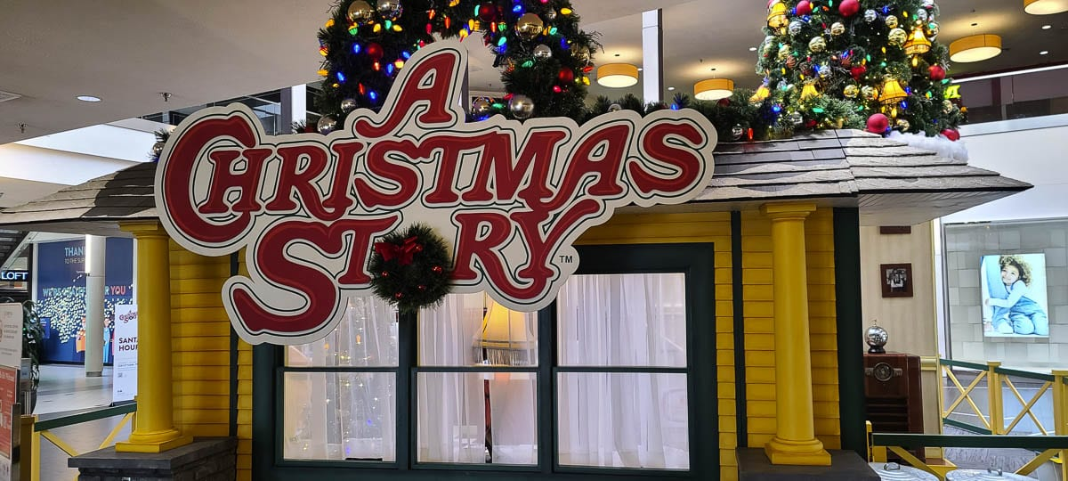 The Vancouver Mall is hosting A Christmas Story theme at its Santa visits this season. Photo by Paul Valencia