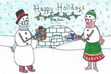 Seventh grader submits winning design in Ridgefield School District's Holiday Greeting Card Contest
