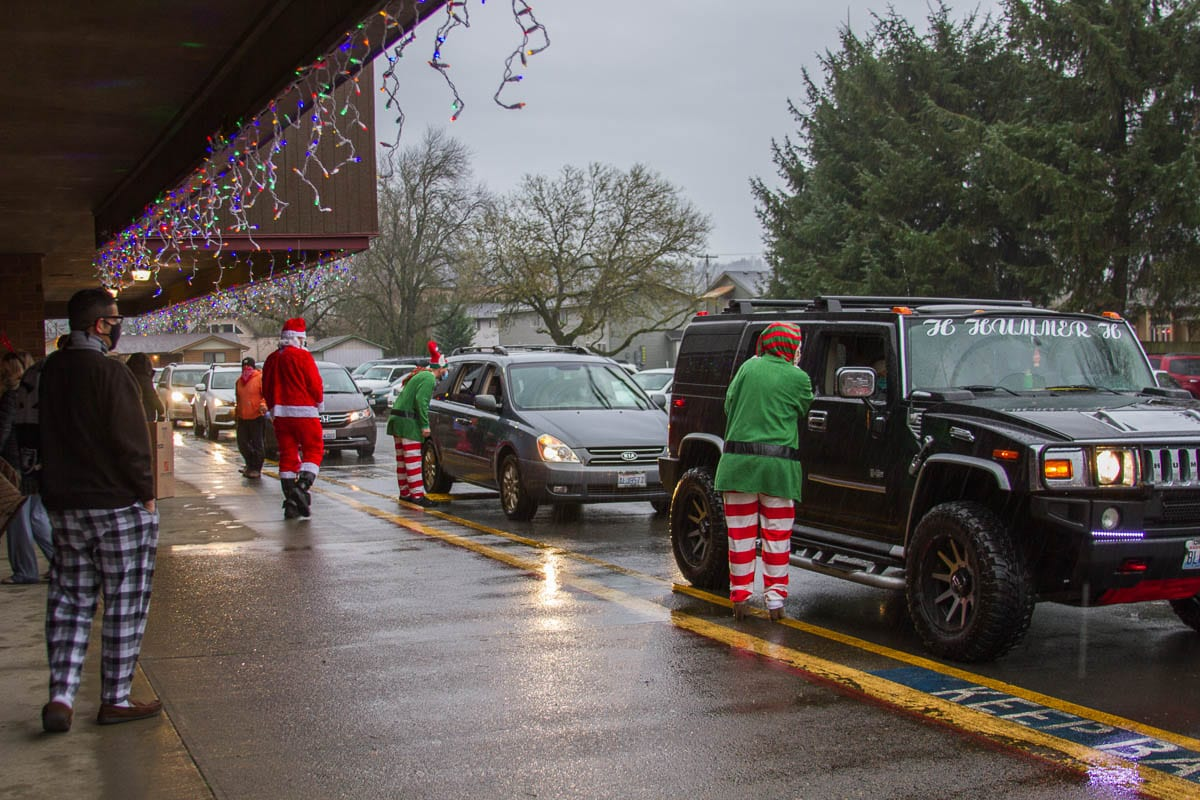Teachers and staff from throughout the district volunteered to help Operation Santa become reality. Photo courtesy of Woodland School District