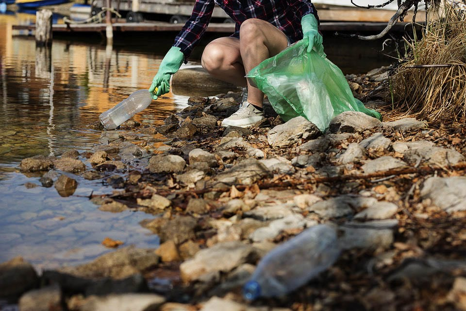 Single-use plastic bags are a main source of pollution, and contamination for recycling programs. Photo via Washington Dept. of Ecology
