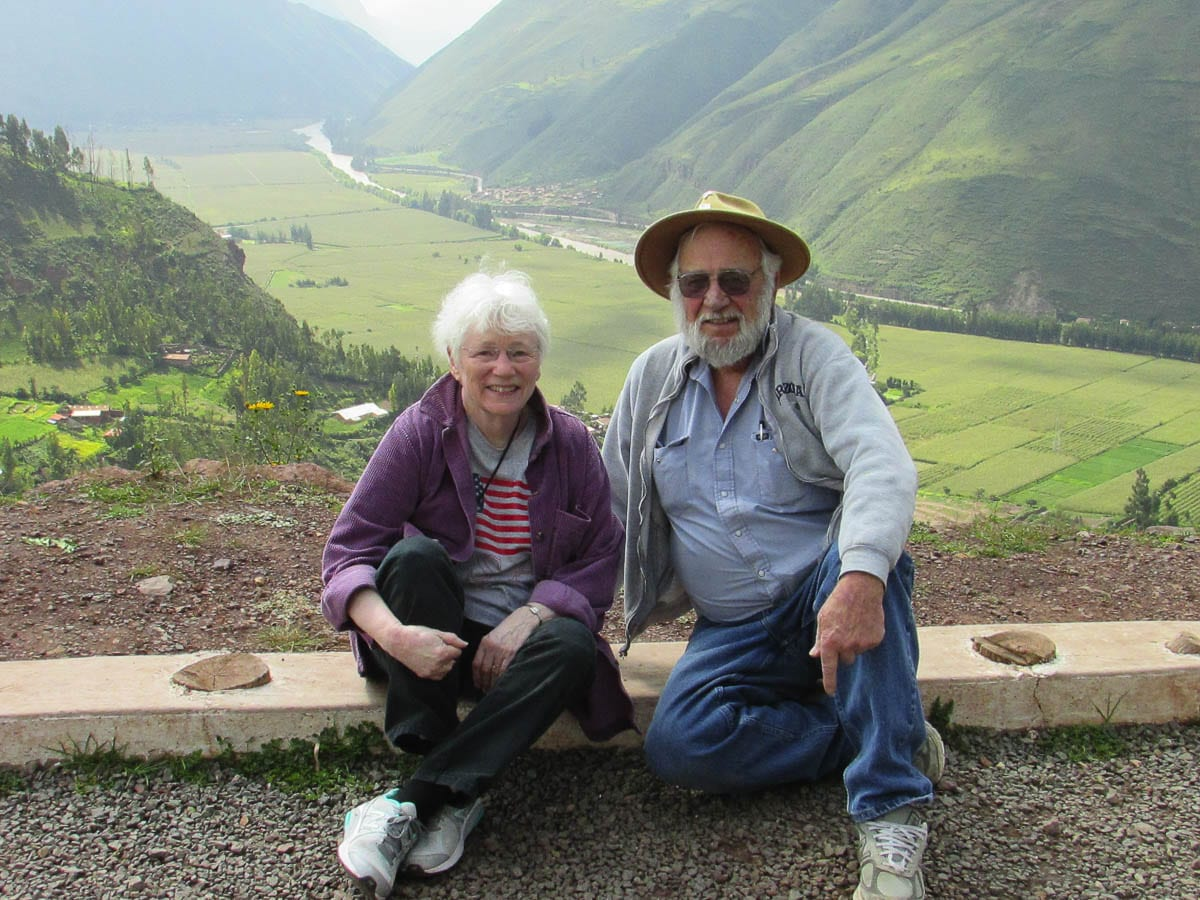 Dave and Helen Alt during their trip to Peru and Machu Picchu. Photo by Helen Alt