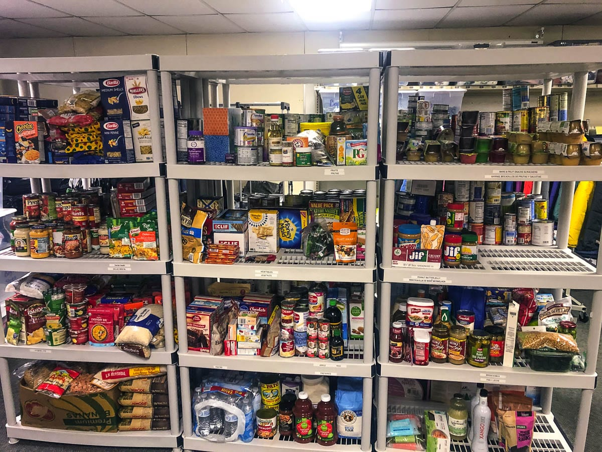 In addition to providing the FCRC with enough supplies for Winter Break boxes, the food drive restocked the organization's food pantry which provides free food for families in need throughout the year. Photo courtesy of Woodland School District