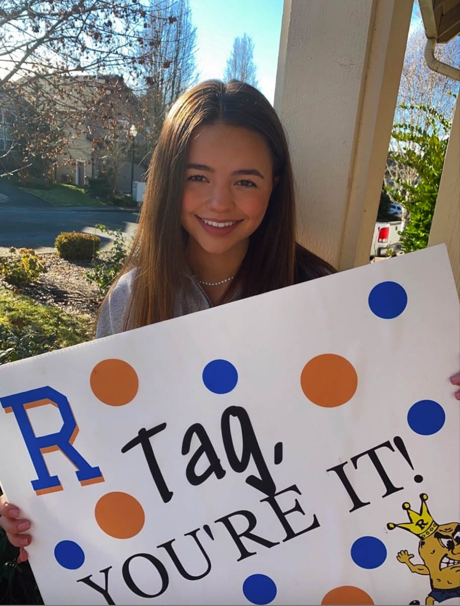 "Grace Gama also posted on the ""tagged"" thread. Photo courtesy of Ridgefield School District"