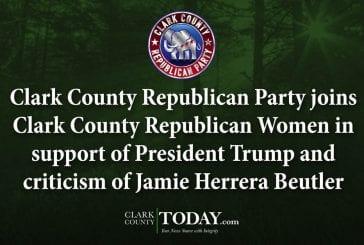 Clark County Republican Party joins Clark County Republican Women in support of President Trump and criticism of Jamie Herrera Beutler