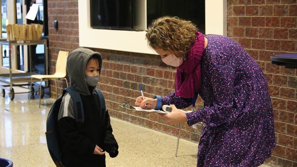 Students returning to school will be required to wear face coverings as well as practice physical distancing to the best of their abilities. Photo courtesy of EPS